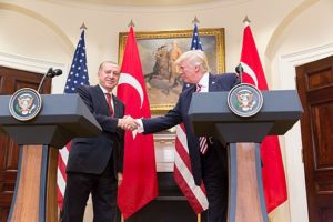 Presidents Trump and Erdoğan.